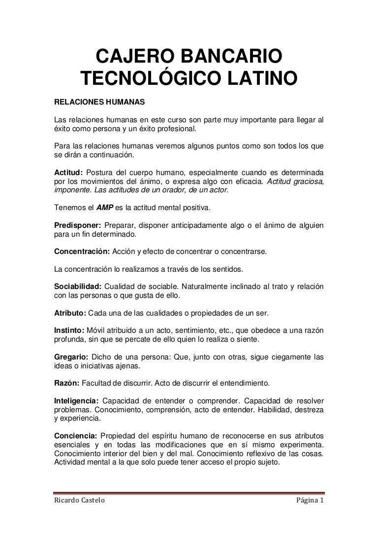 Único Habilidades Y Capacidades De Reanudar Cajero De Banco Foto ...
