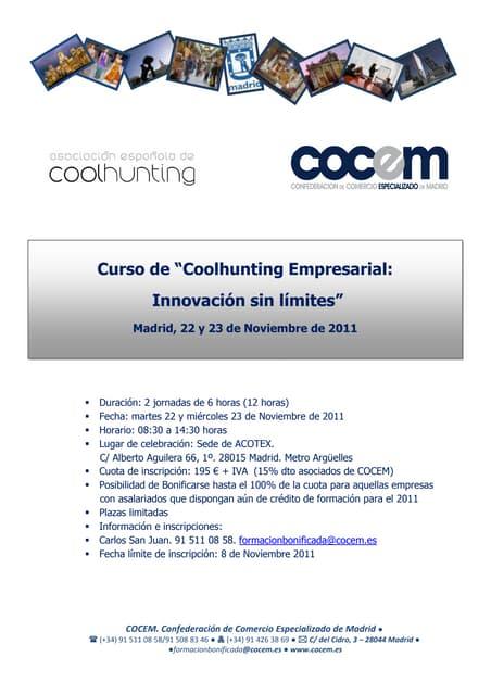 Coolhunting Empresarial: Curso Oficial
