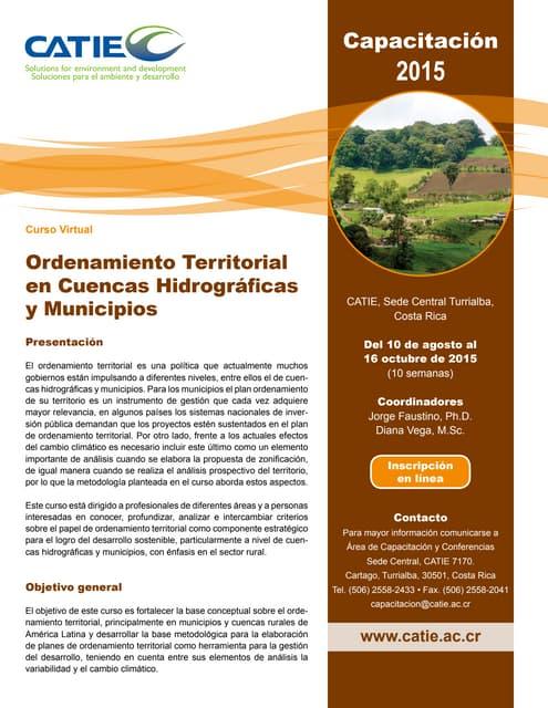 Curso virtual sobre ordenamiento territorial