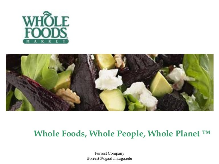 whole foods market presentation for client