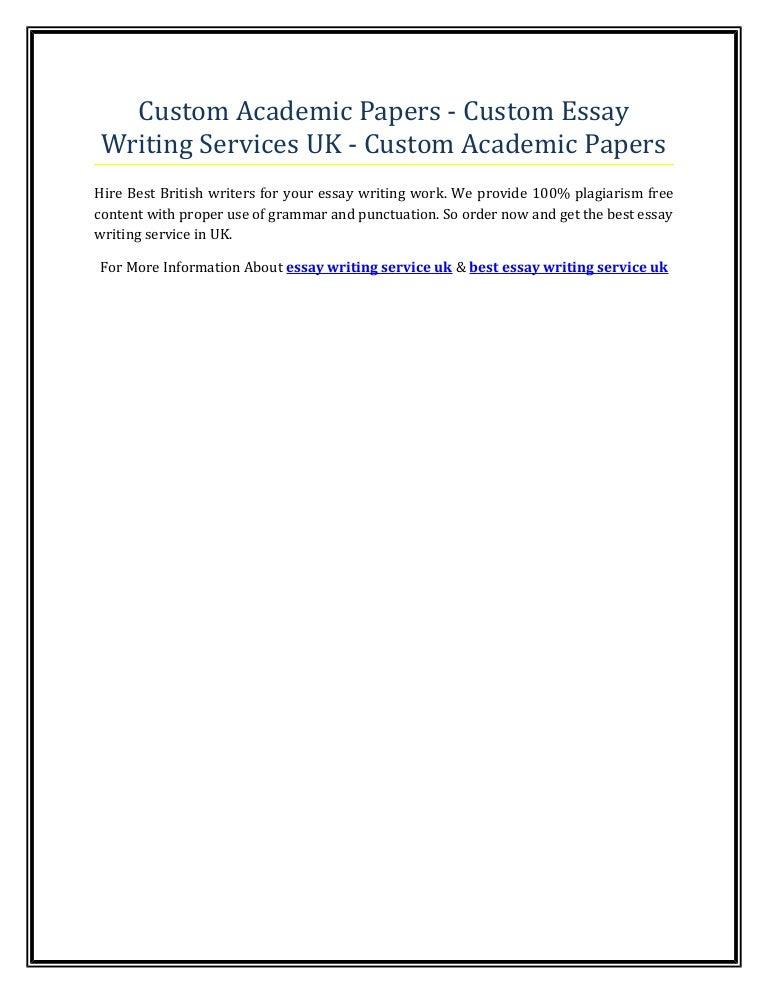 Custom academic papers