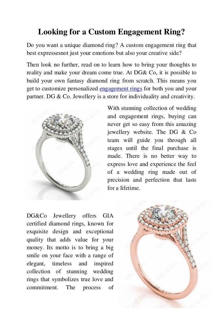custom engagement ring / wedding ring melbourne
