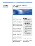 SAS® Customer Analytics for Banking