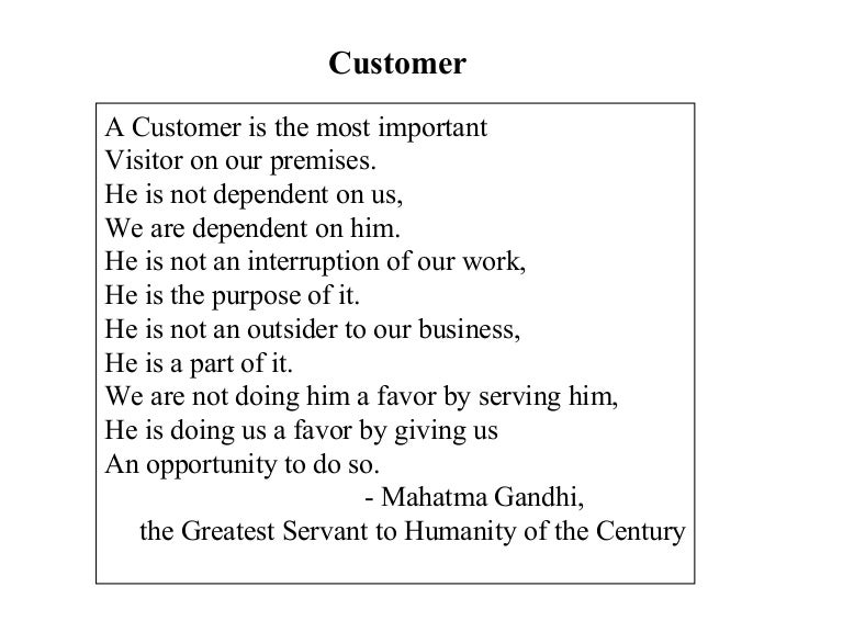 Mahatma Gandhi Quotes About Customers Vaughnwebview