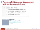 Focus on B2B Acount Management with Net Promoter Score
