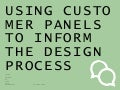 Customer panels