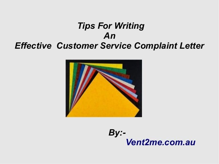 Customer service writing