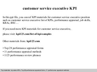 role of a customer service executive