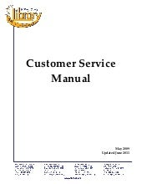 Customer Service Manual