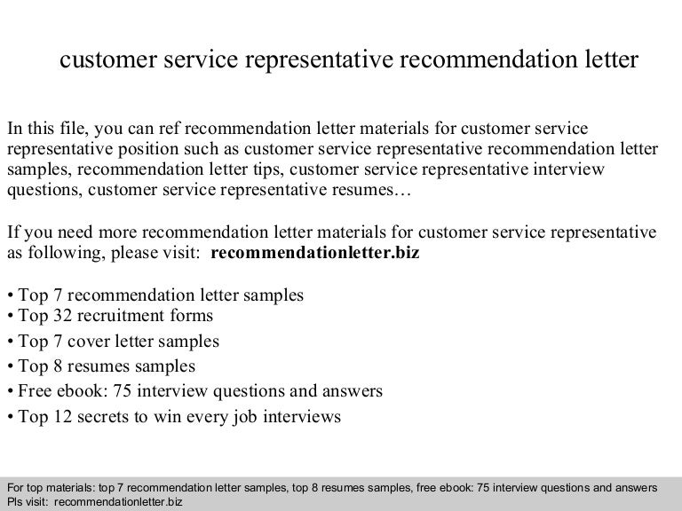 Customerservicerepresentativerecommendationletter 140825091405 Phpapp01 Thumbnail 4gcb1408958069