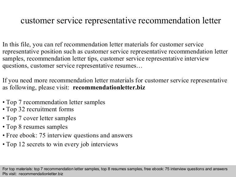 customer service representative recommendation letter resume example resume cv cover letter