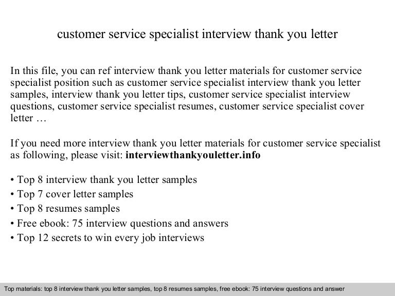 service thank you letters