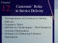 Customers' roles in service delivery