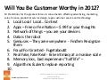 Customer Worthy Predictions & Trends 2012 by Michael R Hoffman