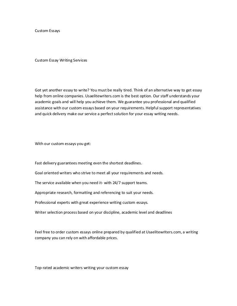 Original custom essays