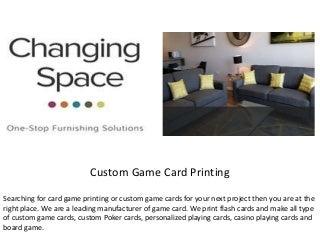 Custom Game Card Printing