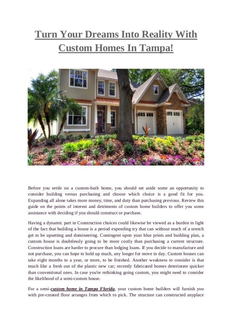 Custom Homes Tampa Javichomes
