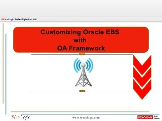 Customizing Oracle EBS OA Framework