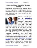Customized legal deposition_summary_service