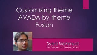 Customizing theme avada by Theme Fusion