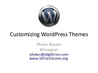 Customizing word press themes for san diego wordpress user group