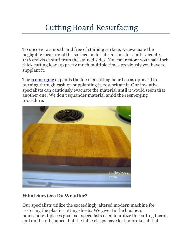 Cutting Board Resurfacing