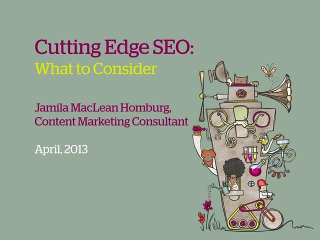Cutting edge seo   #cimcig - jamila mac lean