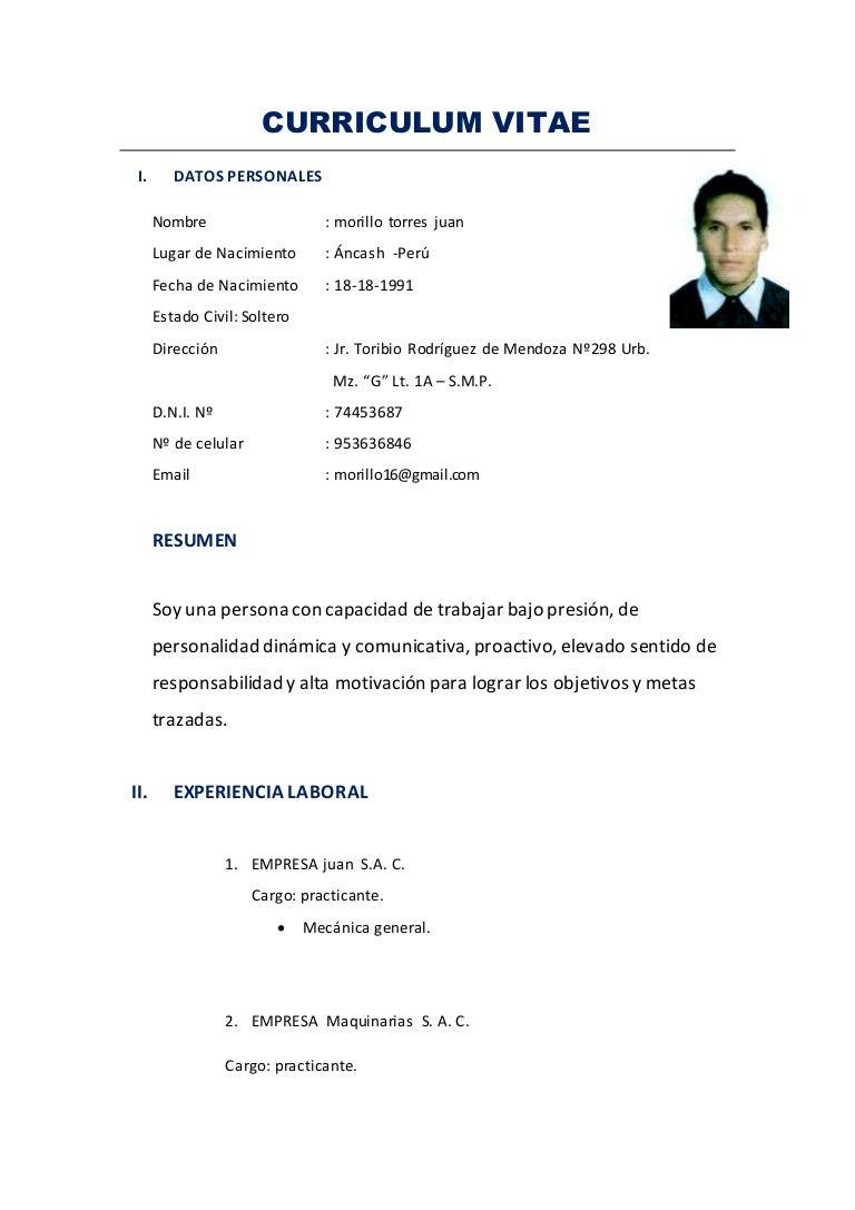 Dorable Mi Currículum Ayudante Colección de Imágenes - Ejemplo De ...