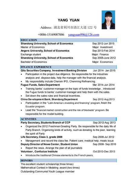 Resume - NYU Graduate (Economics, Business)