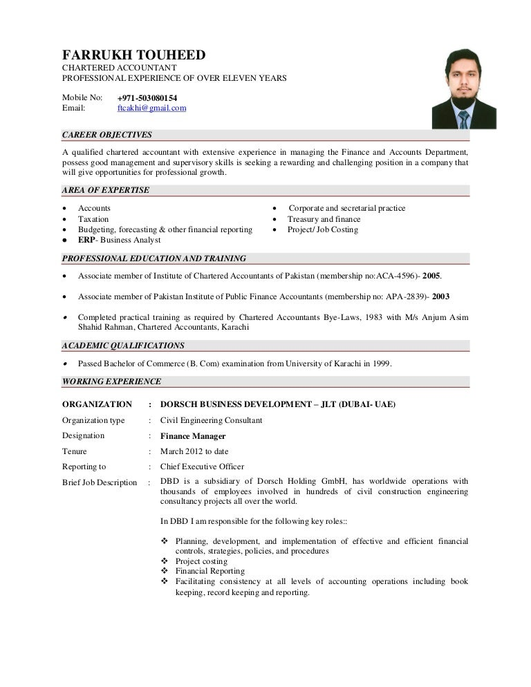 Sr Accountant Resume Vosvetenet – Senior Accountant Sample Resume