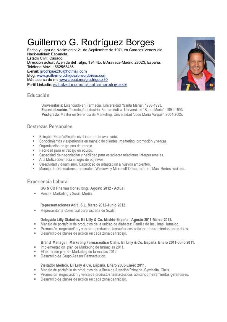Cv guillermo rodríguez-madrid-españa-pdf actualizado enero 2013