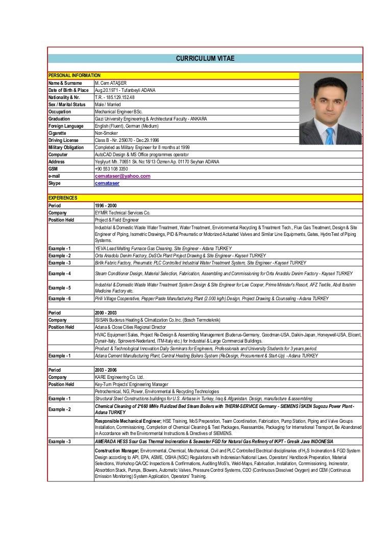 CV M.Cem ATASER-ENIC 12052016