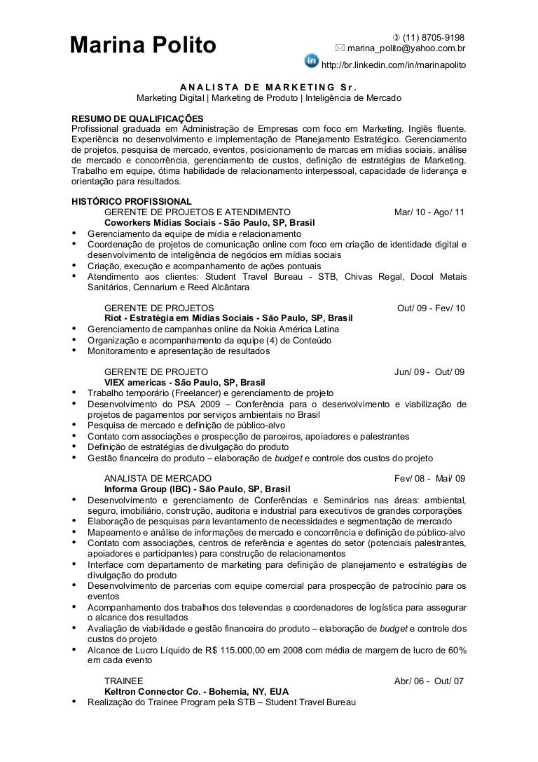 Perfecto Analista De Negocios Junior Curriculum Vitae Bosquejo ...