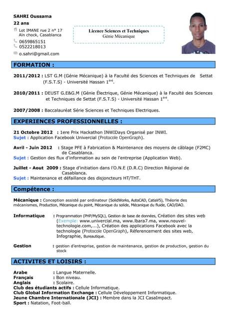 Exemple de CV ingenieur etudes et developpement en logiciels de simulation