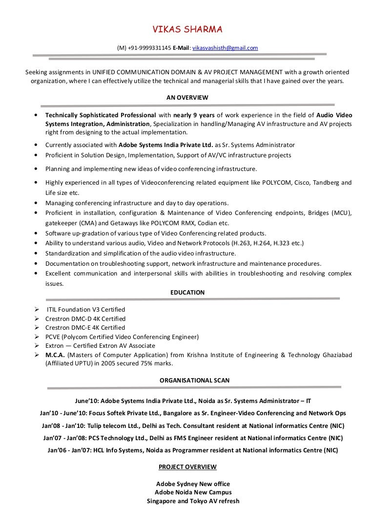 Video Conferencing Engineer with nearly 9+ years of work experience i…