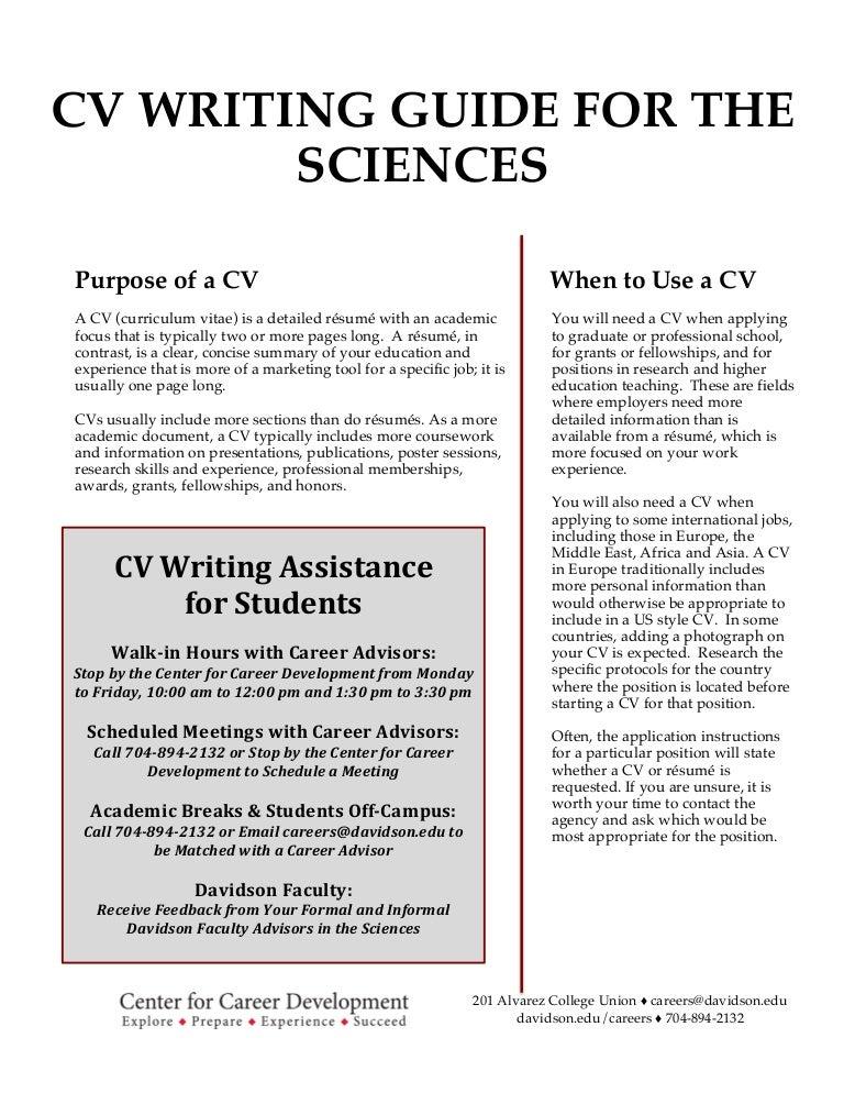 how to write academic resume