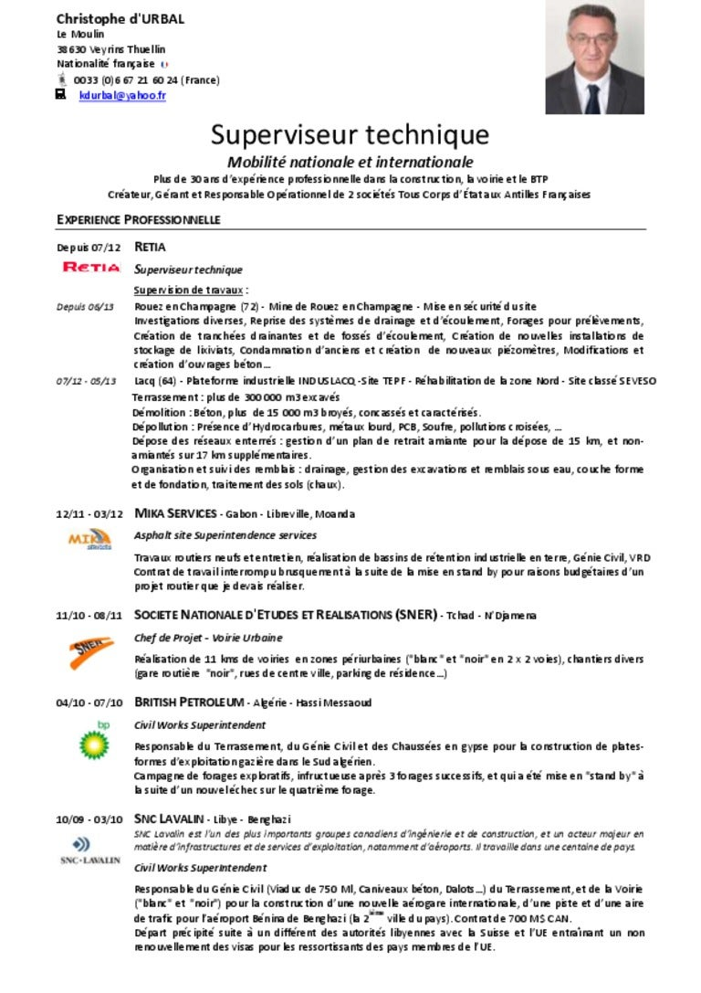 exemple cv chef de chantier cv type conducteur de travaux   CV Anonyme exemple cv chef de chantier