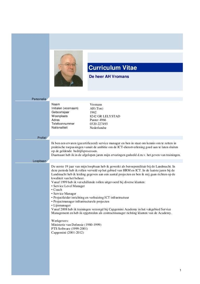voorbeeld cv ict Voorbeeld Cv Ict Beheerder | hetmakershuis