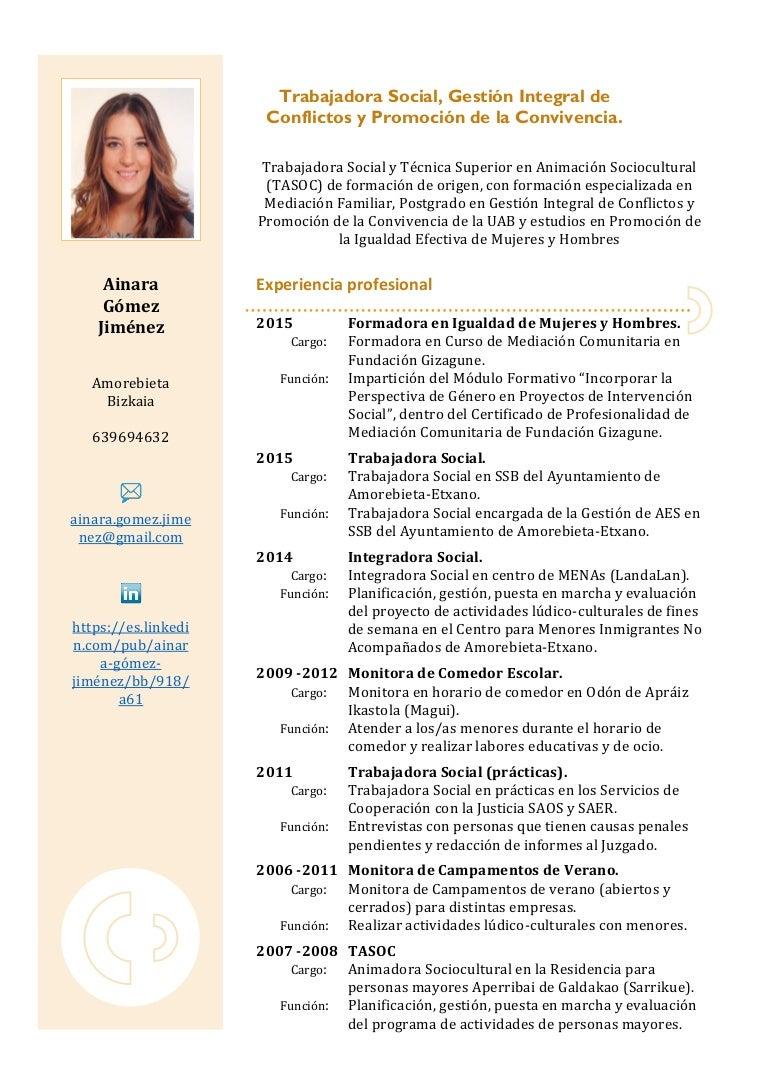 CV Ainara Gómez Jiménez