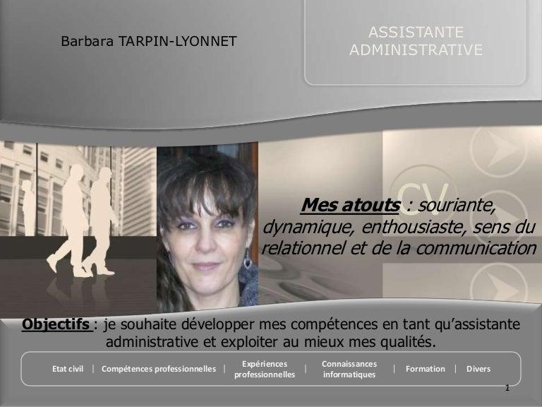 cv assistante administrative