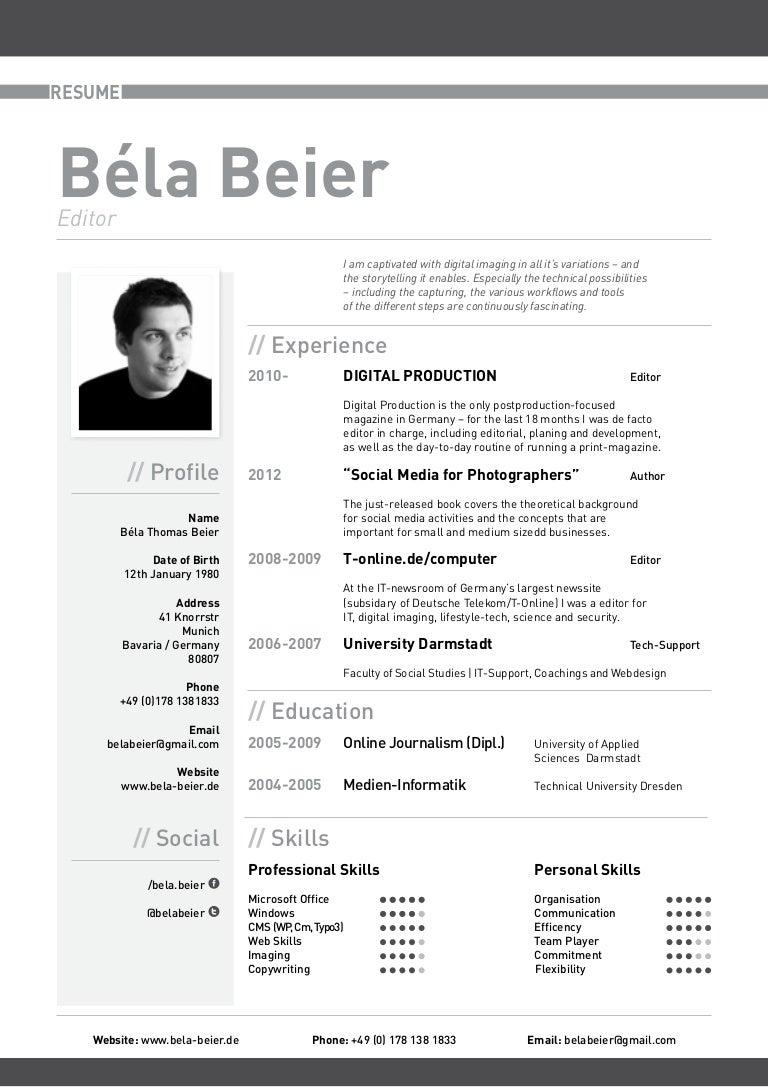Curriculum Vitae Bela Beier (english)