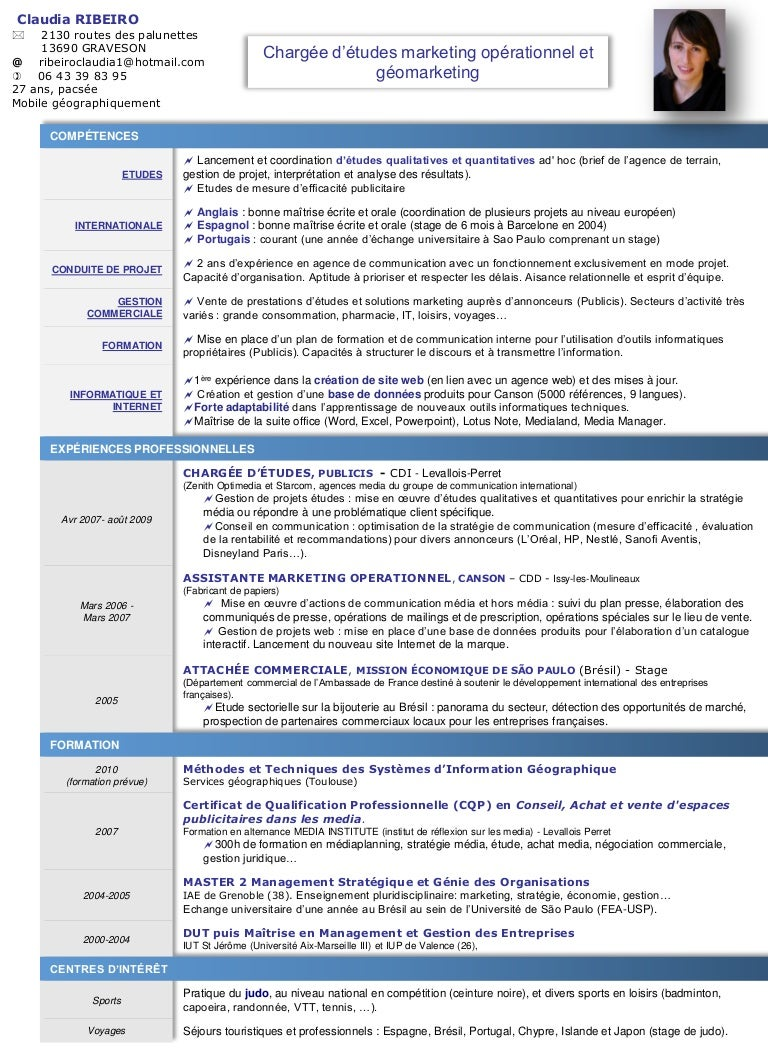 exemple de cv developpeur economique