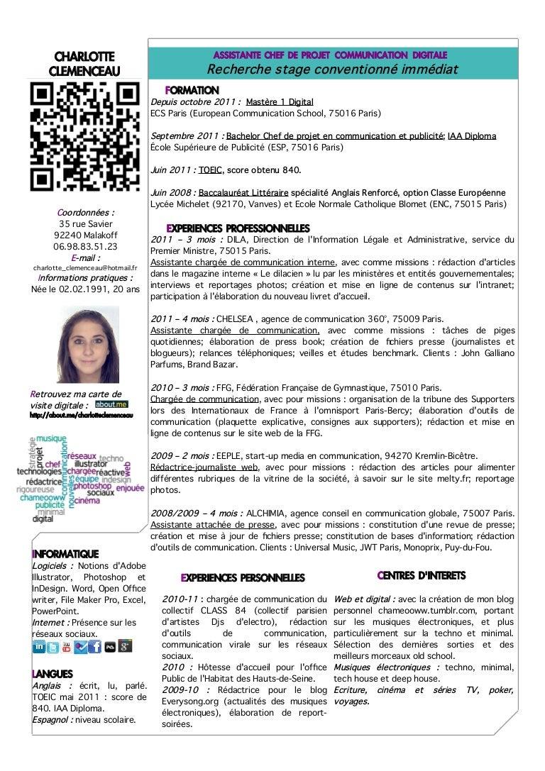 cv digital charlotte clemenceau 2011