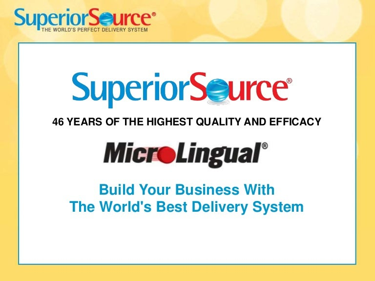 Superior Source Vitamins / MicroLingual Technology