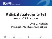 9 Digital Strategies to tell your CSR story