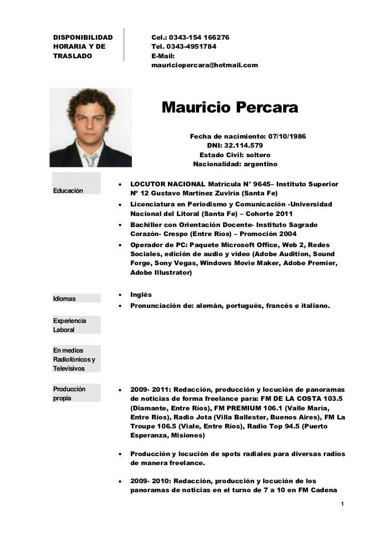 Cv de mauricio_percara