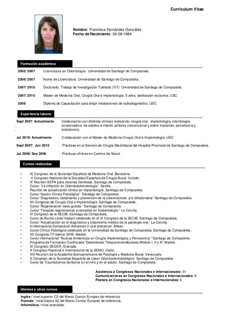 Hermosa Curriculum Vitae De La Oficina Dental Viñeta - Ejemplo De ...