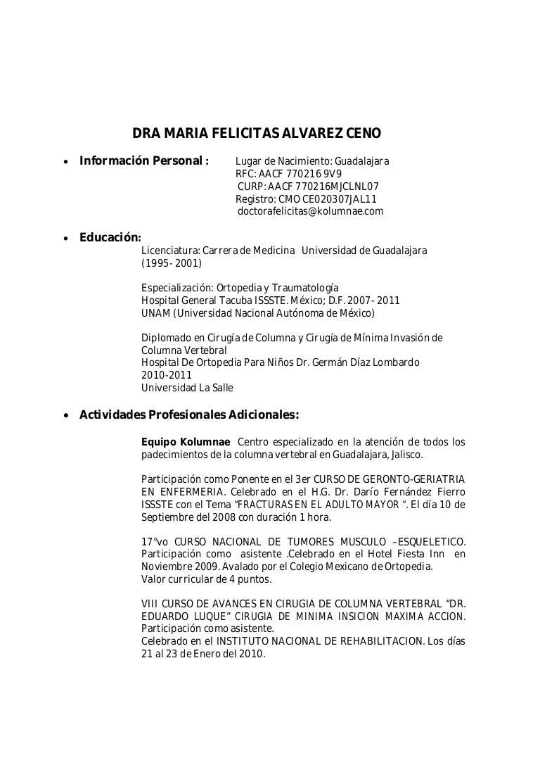 Increíble Curriculum Vitae De La Ciencia Médica Molde - Colección De ...