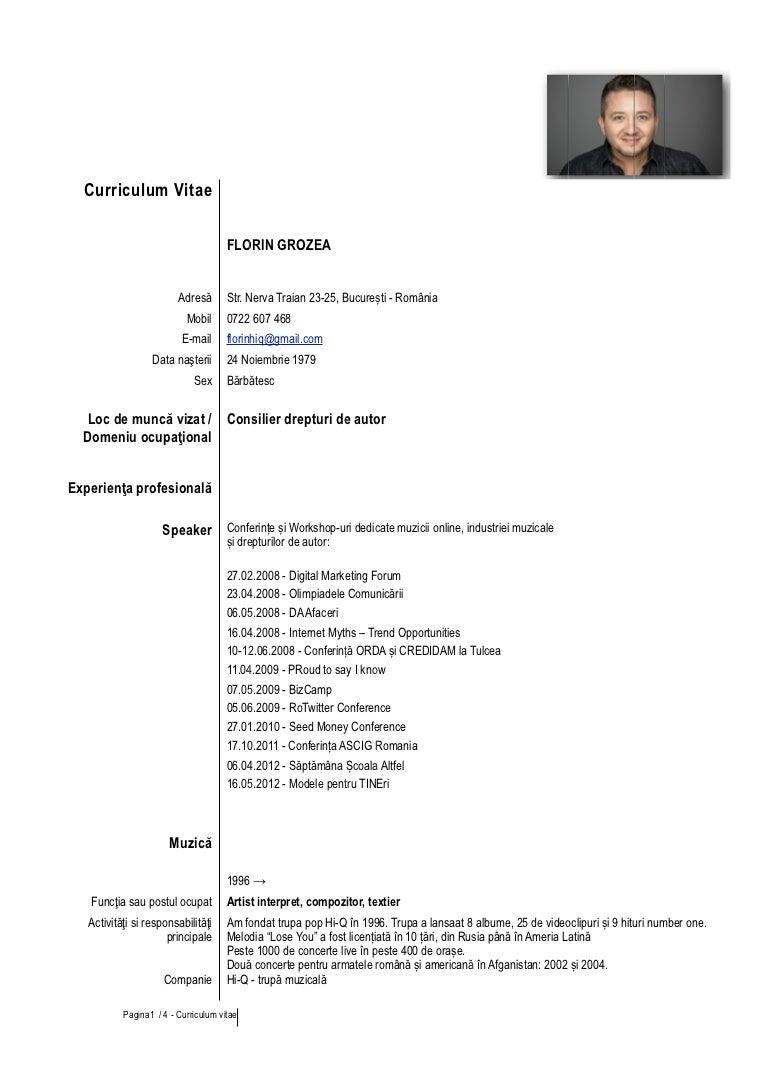 Model cv limba romana completat insurance clerk cover letter chief cv florin grozea cvfloringrozea octombrie2012 121116010825 phpapp01 thumbnail 4 cv florin grozea model cv limba romana completat yelopaper Image collections
