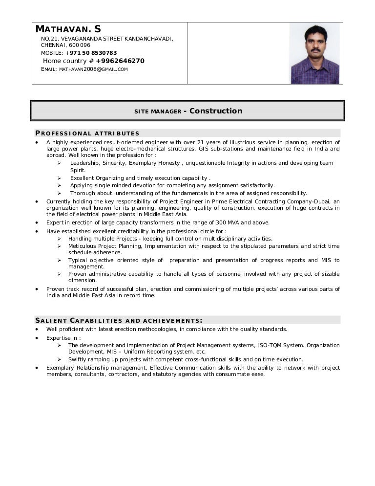 Cute Civil Foreman Cv Format Gallery   Example Resume Ideas .